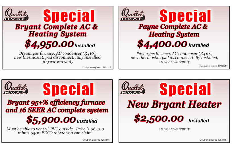 Quallet HVAC Coupons and Specials